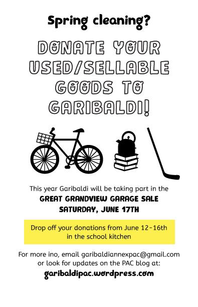 Garibaldi Garage Sale Flyer | Garibaldi Annex PAC